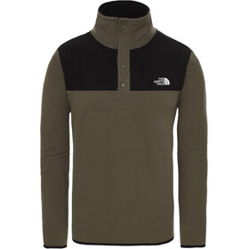 The North Face Tka Glacier Snap Neck Pullover Men new taupe green/tnf black